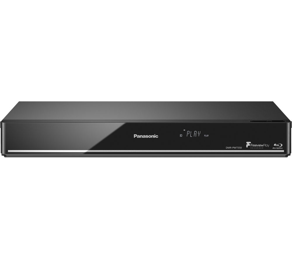 PANASONIC DMR-PWT550EB Smart 4k Ultra HD 3D Blu-ray Player with Freeview Play Recorder - 500 GB HDD