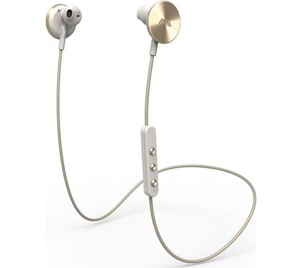 IAM Buttons Wireless Bluetooth Headphones - Gold, Gold