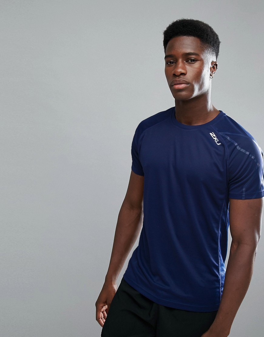 2XU Running Active T-Shirt In Navy MR4818A-NVY - Navy