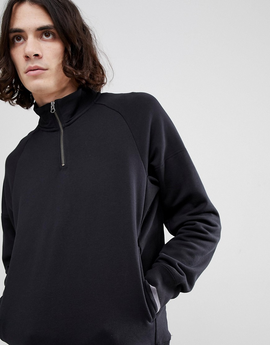 Nike SB Everett Half-Zip Sweat In Black 885827-010 - Black