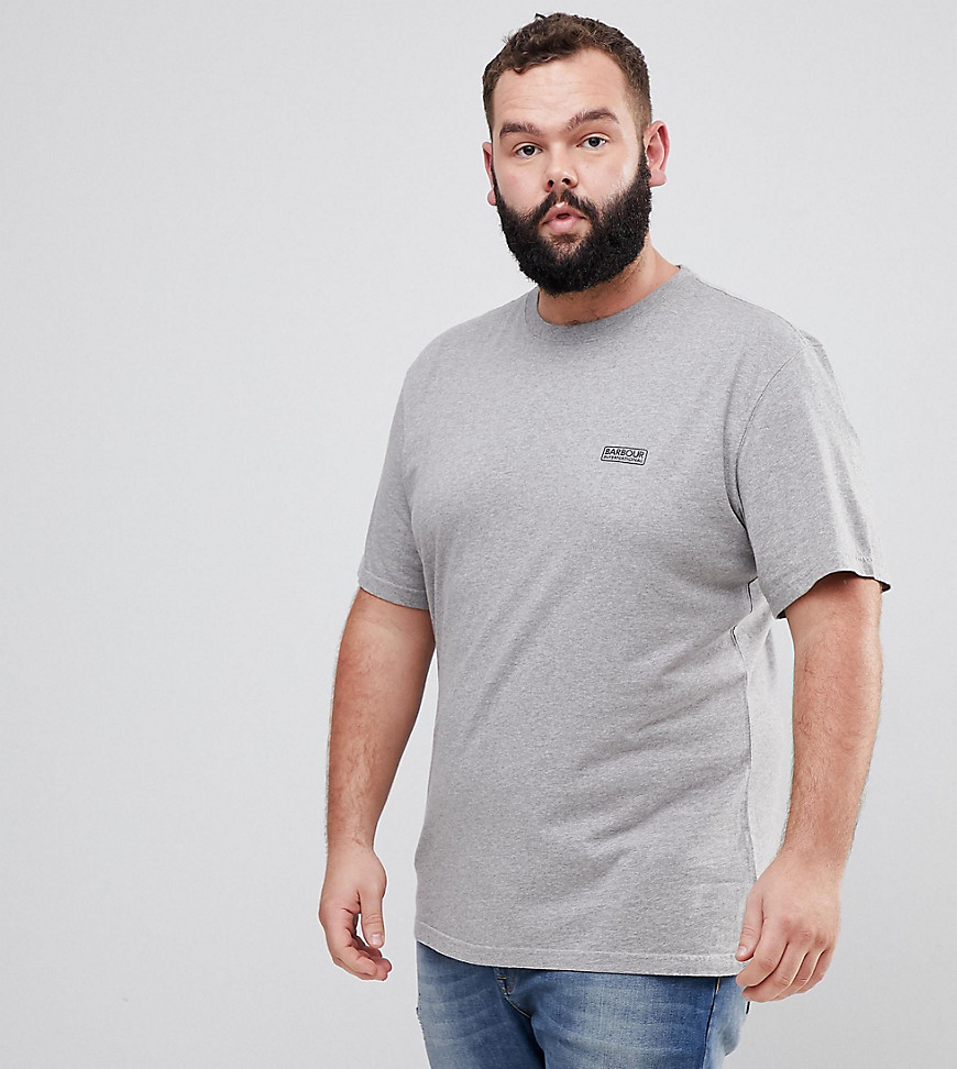 Barbour International PLUS Logo T-Shirt in Grey - Grey marl