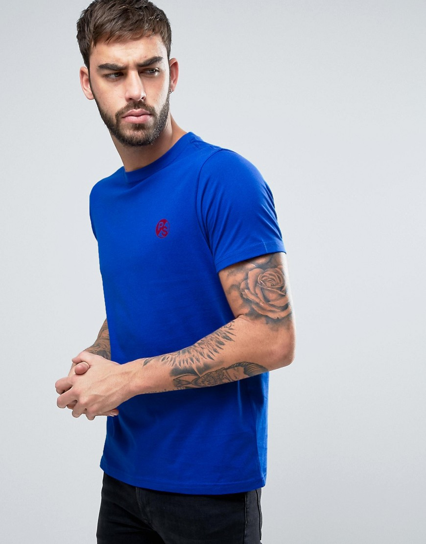 PS by Paul Smith PS Logo T-Shirt Slim Fit in Blue - Ink