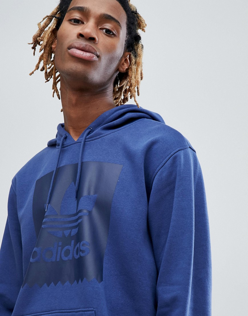 adidas Skateboarding Pullover Hoodie With Blackbird Logo In Blue CW2357 - Blue