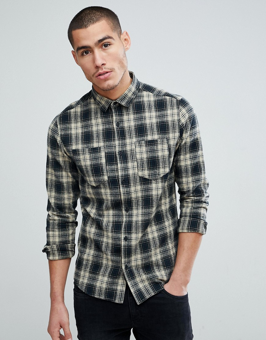 Only & Sons Checked Shirt In Regular Fit - Darkest spruce