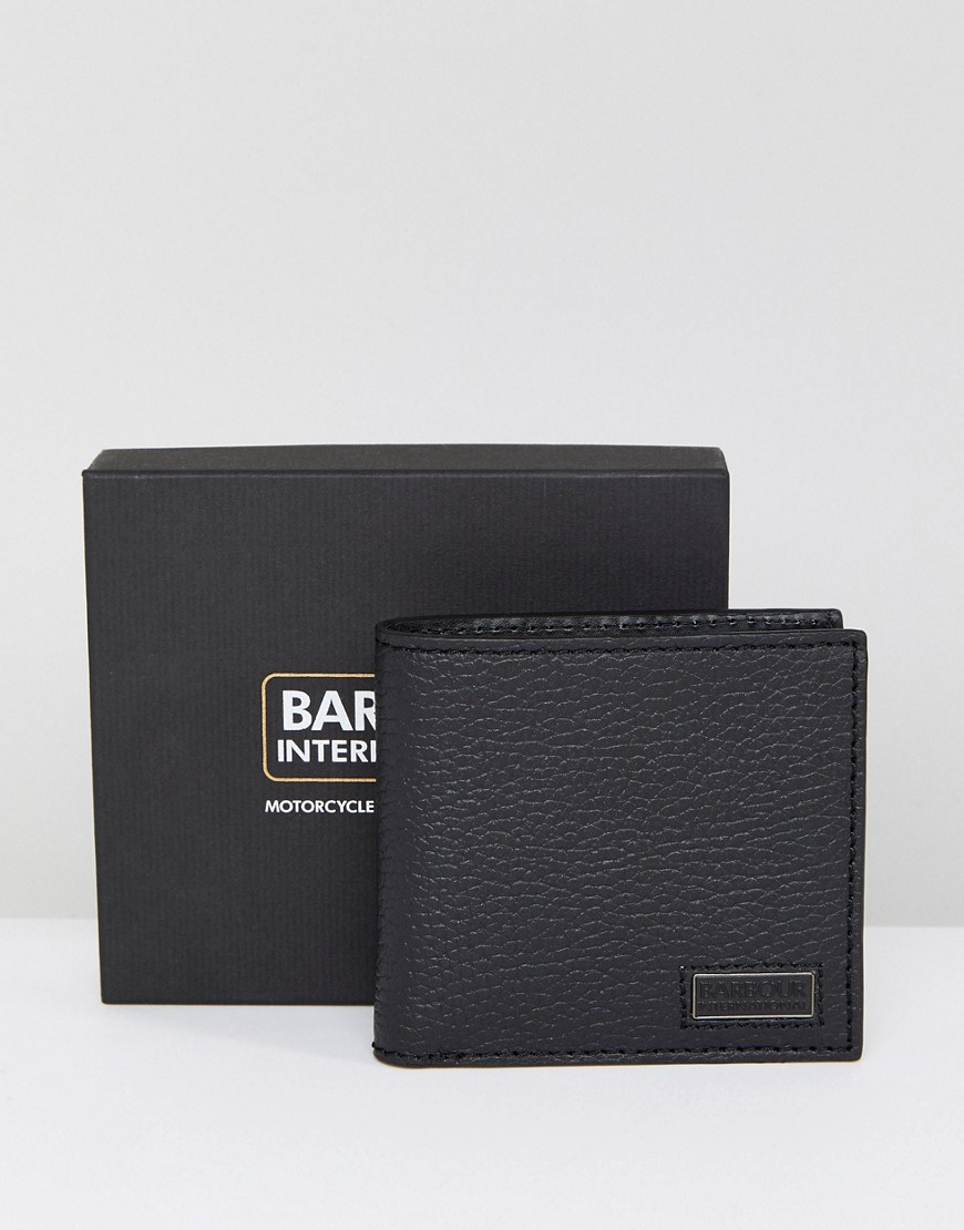 Barbour International Bill Fold Wallet in Black - Black