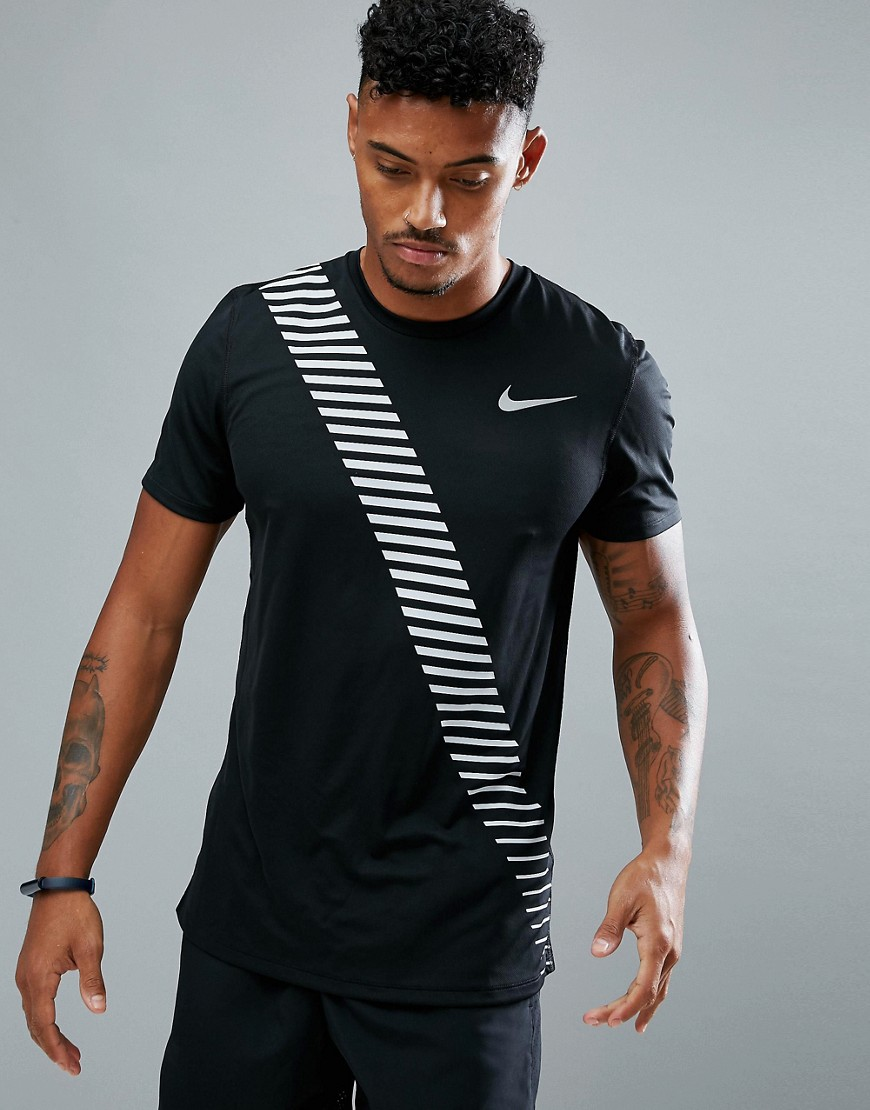 Nike Running Breathe Rapid T-Shirt In Black 858155-010 - Black