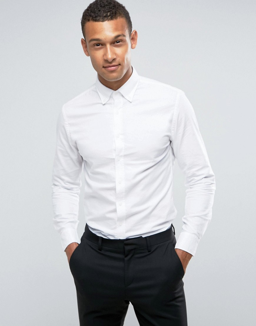 Mango Man Oxford Shirt In White - White