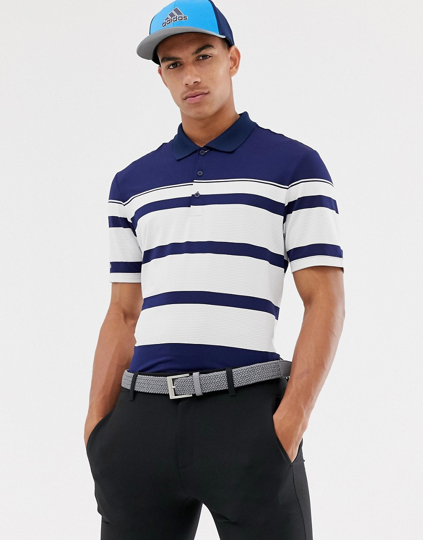 adidas Golf Ultimate Wraparound Polo In Navy - Navy