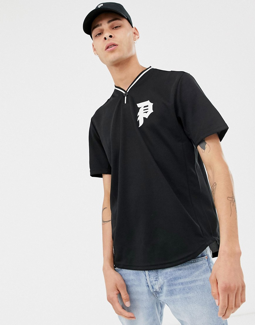 Primitive Practise Baeball T-Shirt With Logo In Black - Black