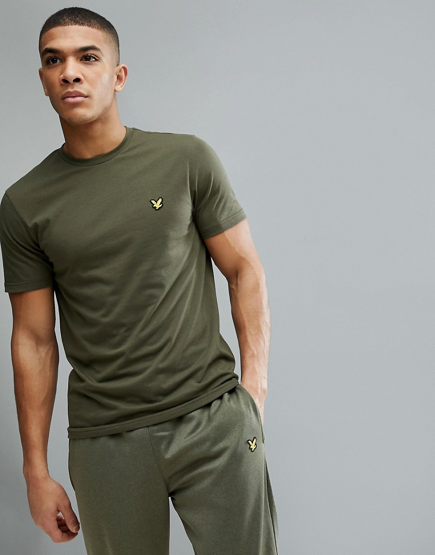 Lyle & Scott Fitness Martin T-Shirt In Green - Olive