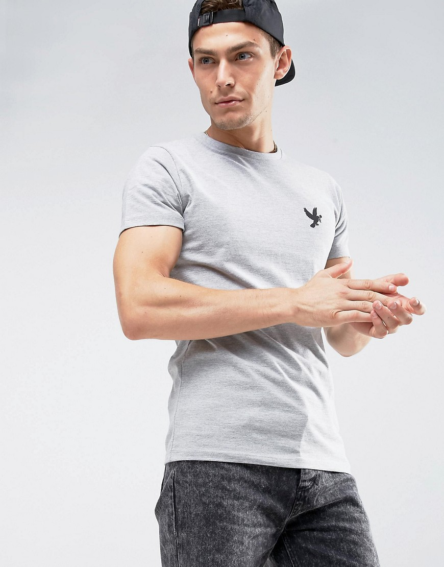Devote Muscle Fit Dove T-Shirt - Grey