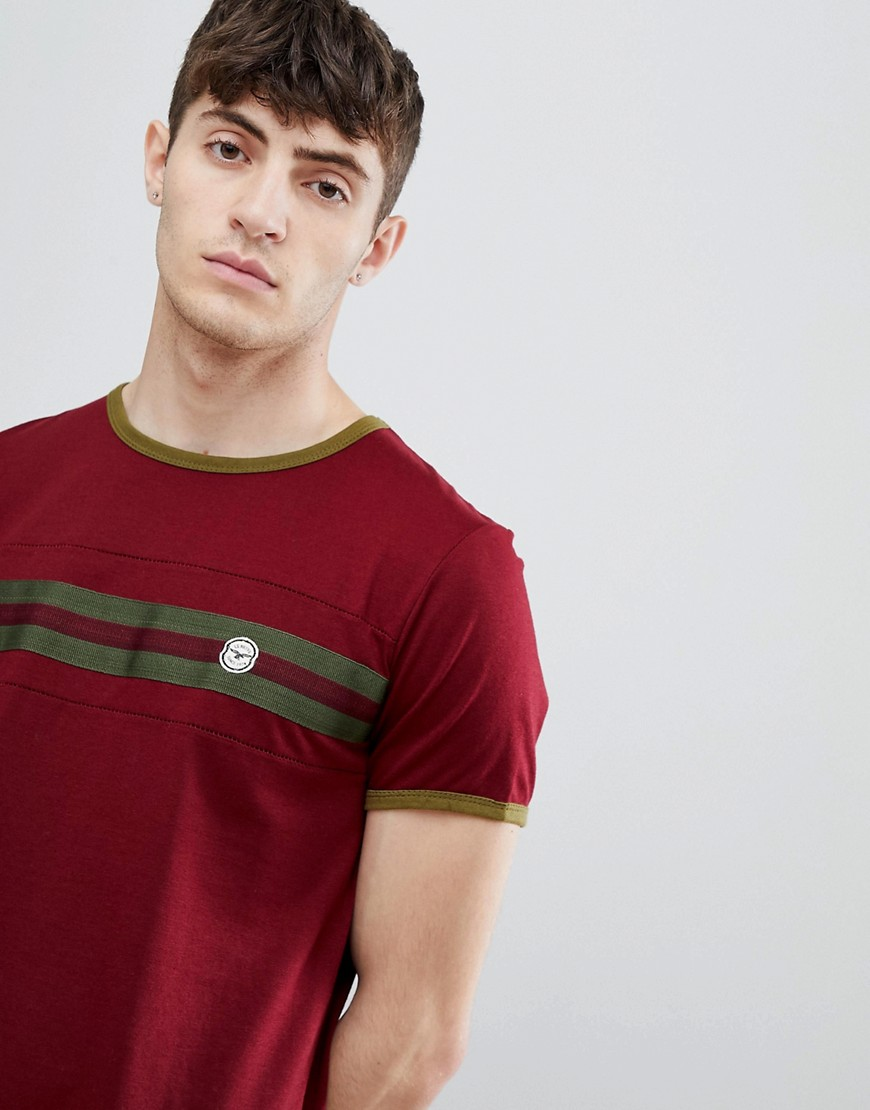 Le Breve Chest Striped T-Shirt - Red/white