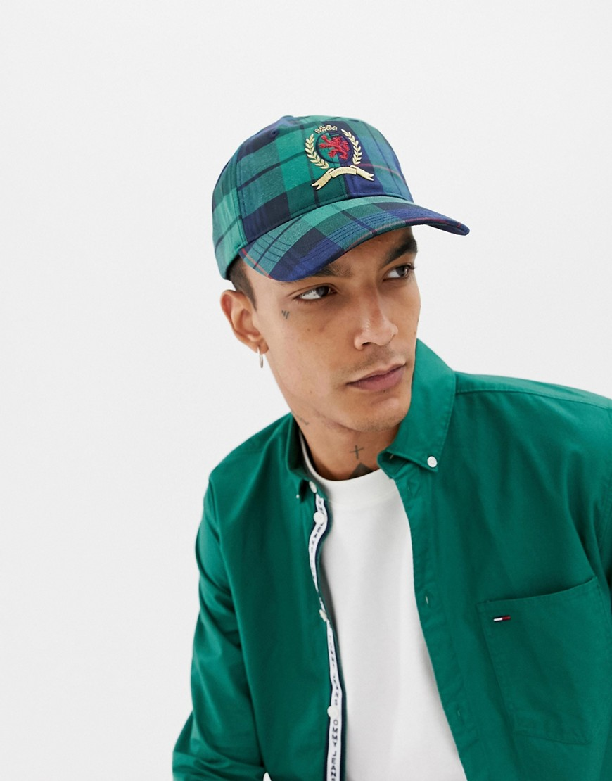 Tommy Jeans 6.0 Limited Capsule baseball cap with crest logo in plaid check - Plaid check