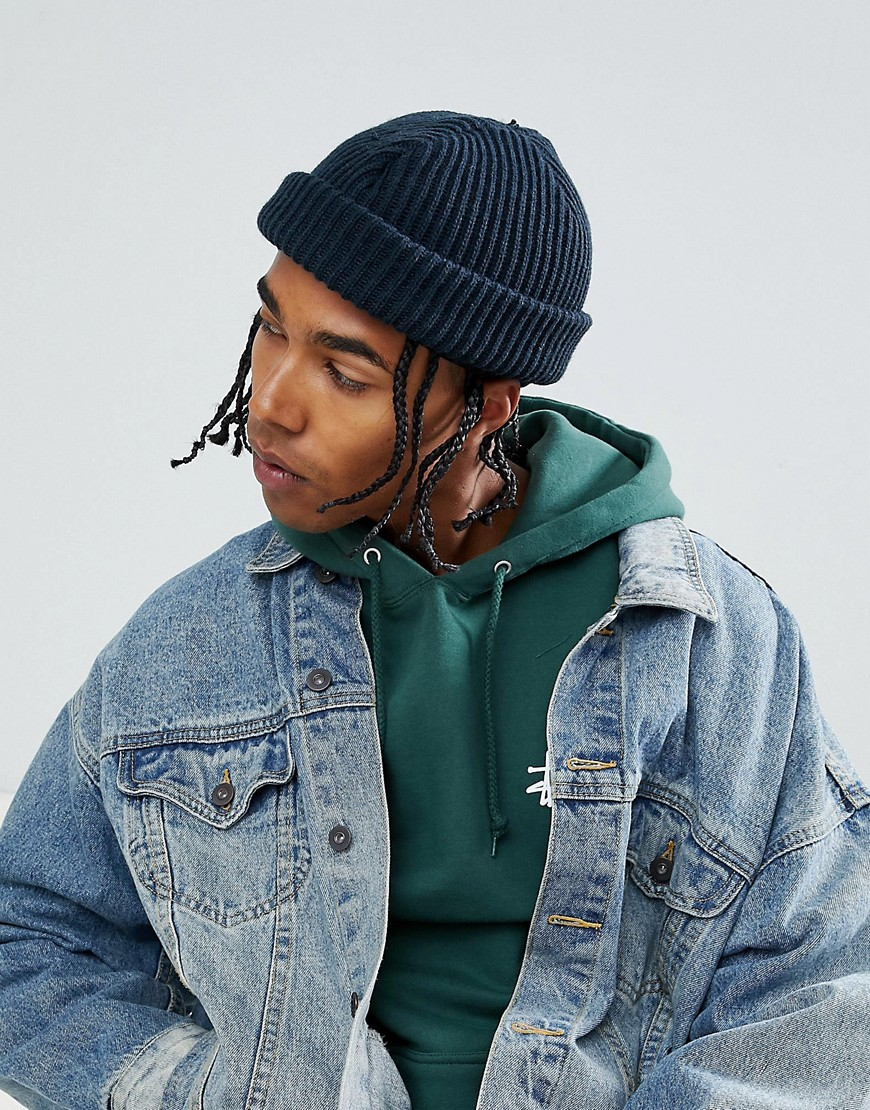 Dickies Claudville short beanie in navy - Dark navy
