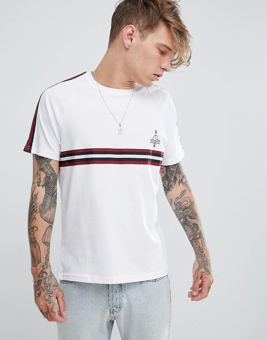 Brooklyn Supply Co t-shirt with sleeve and chest taping - White