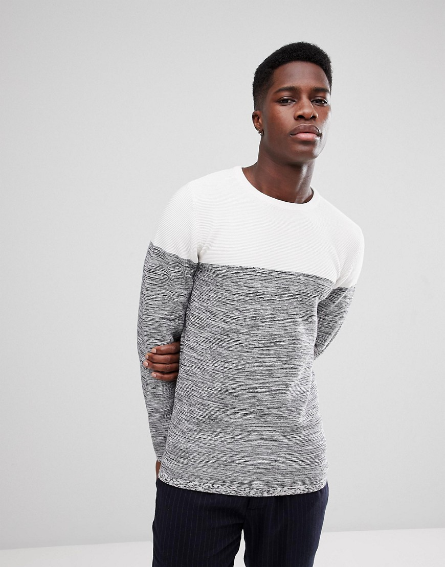 Lindbergh Crew Neck Jumper in Off White - Off white