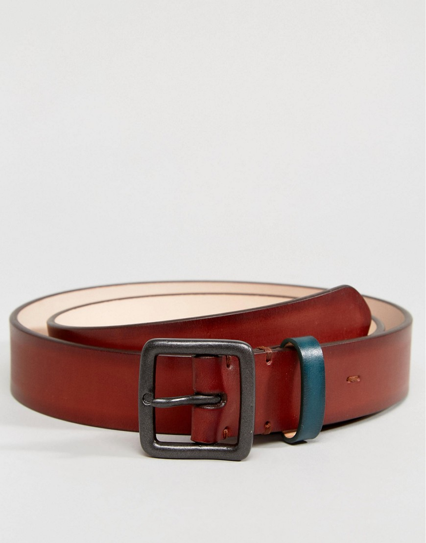 PS Paul Smith Burnished Leather Contrast Keeper in Tan - Tan