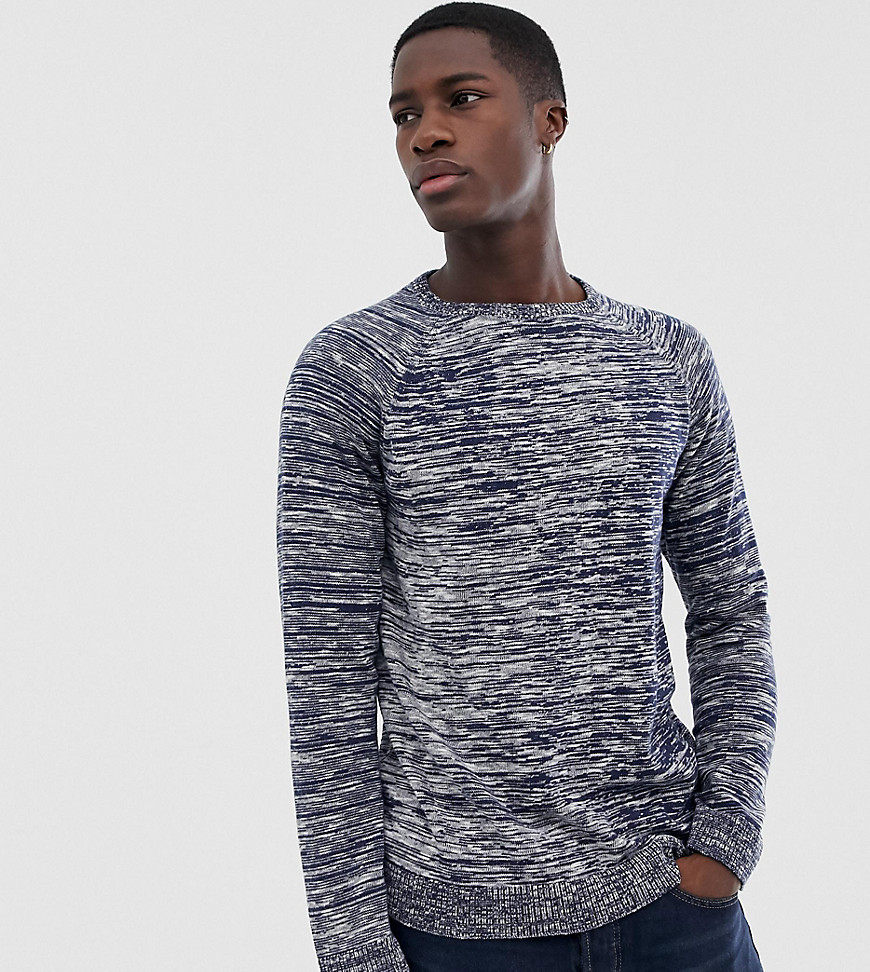 Nudie Jeans Co Hans Noise Space Dye Jumper - Navy