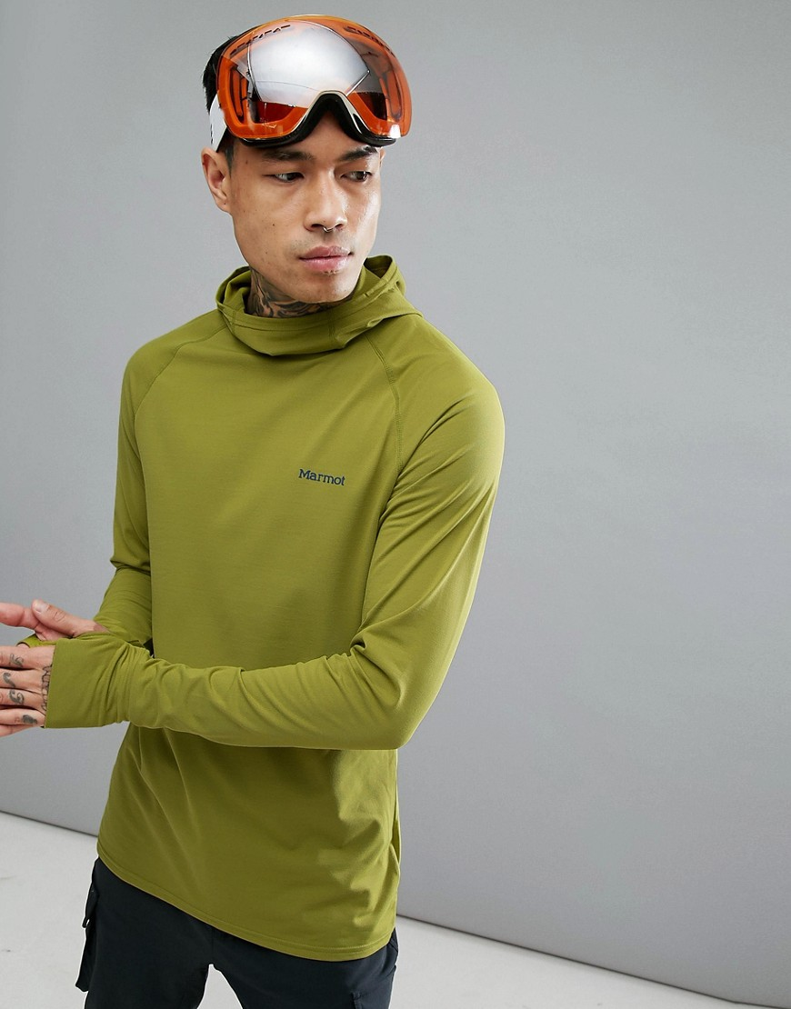 Marmot Harrier Baselayer Hoodie in Light Green - Cilantro