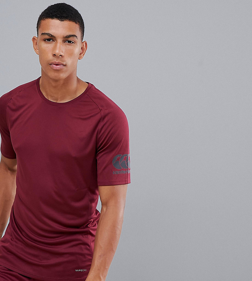 Canterbury Vapodri Superlight T-Shirt In Burgundy Exclusive To ASOS - Red