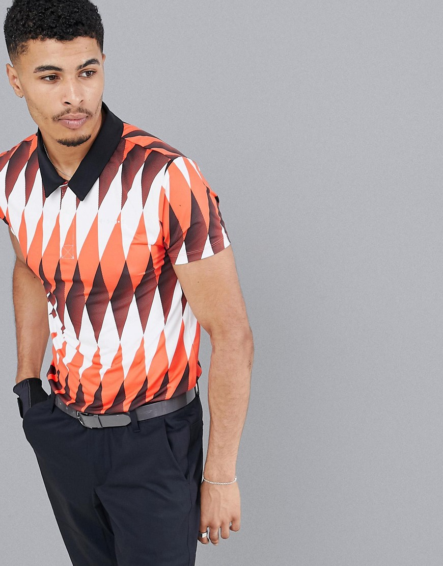 ASOS 4505 golf polo with all over print and quick dry - Multi
