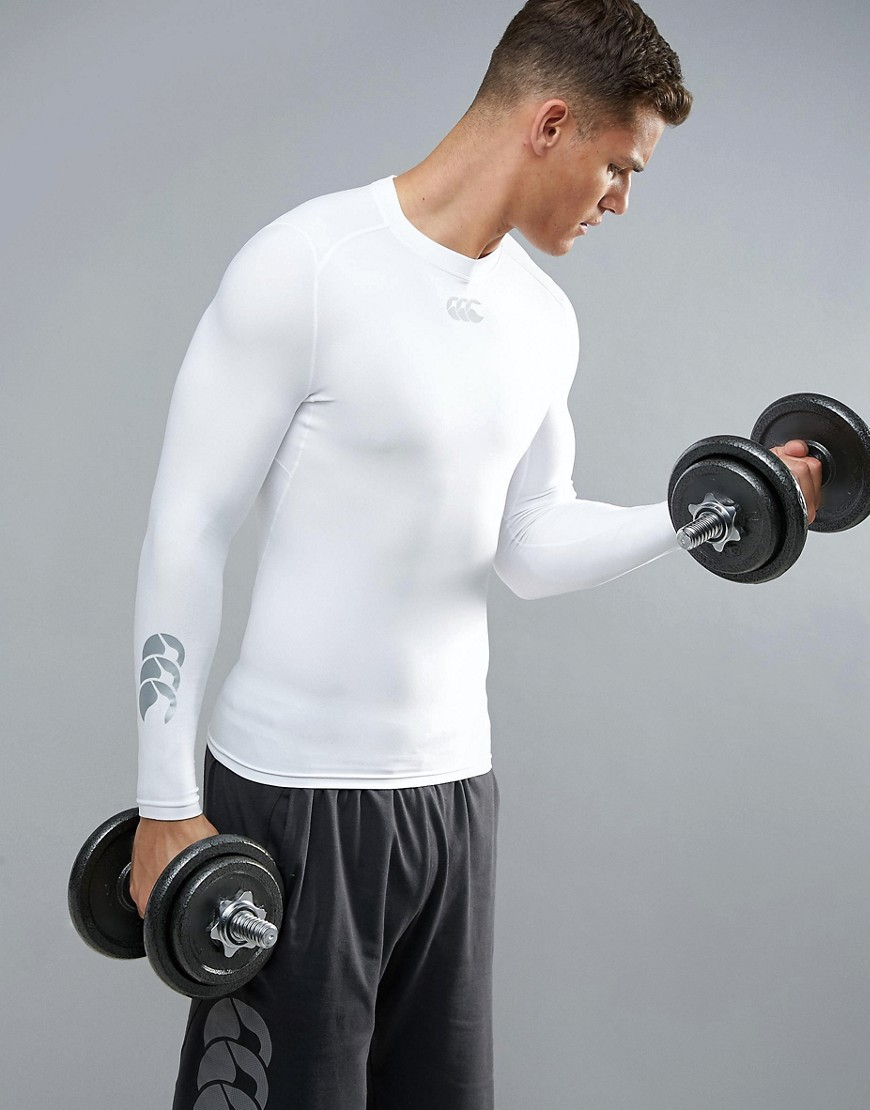 Canterbury Thermoreg Baselayer Long Sleeve Top In White E546845-001 - White
