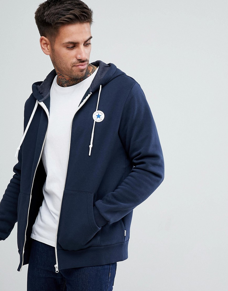 Converse Chuck Patch Zip Hoodie In Navy 10004627-A01 - Navy