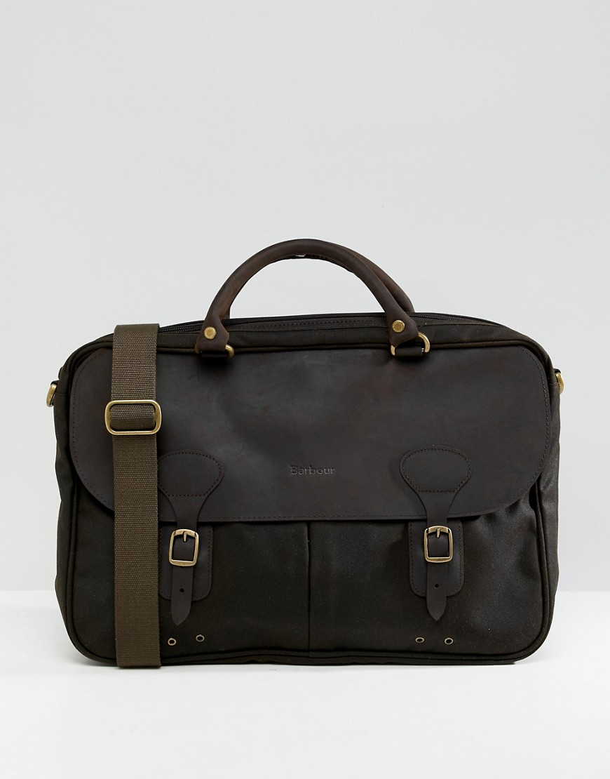Barbour briefcase in green - Green