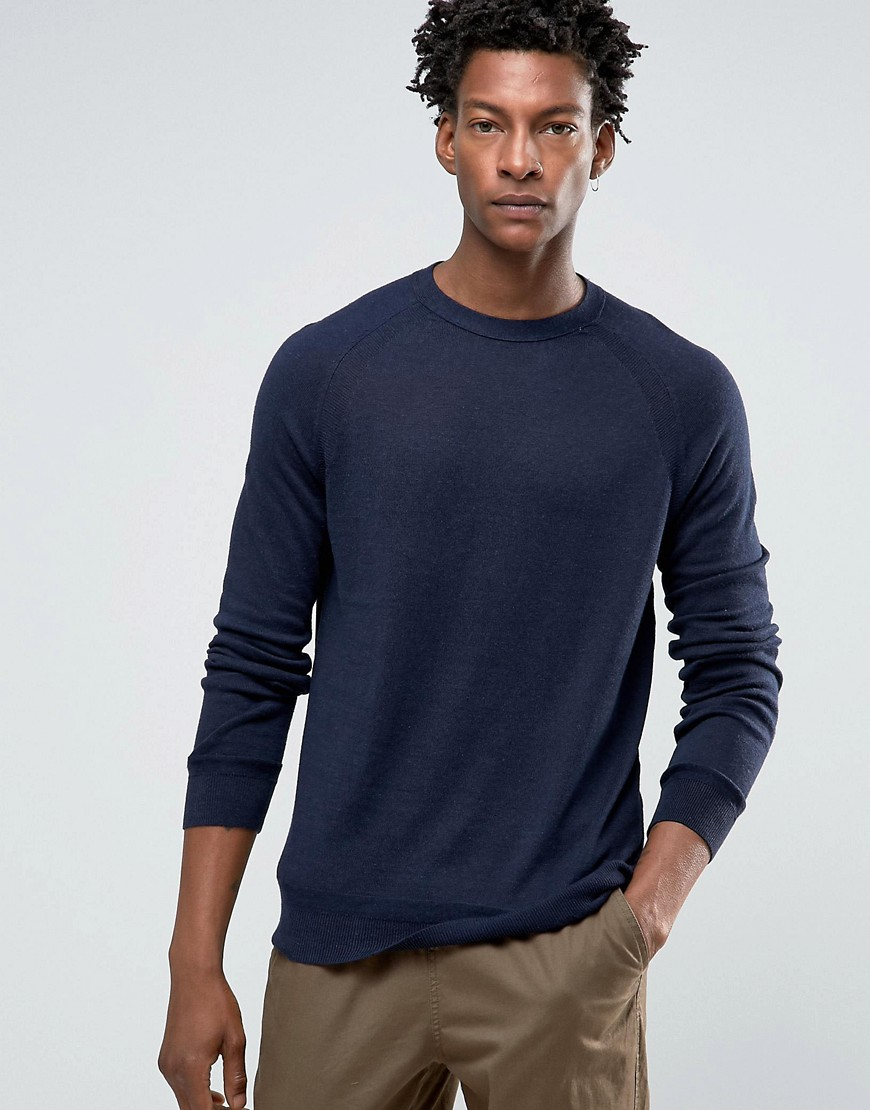 Kiomi Jumper In Fine Knit - Navy
