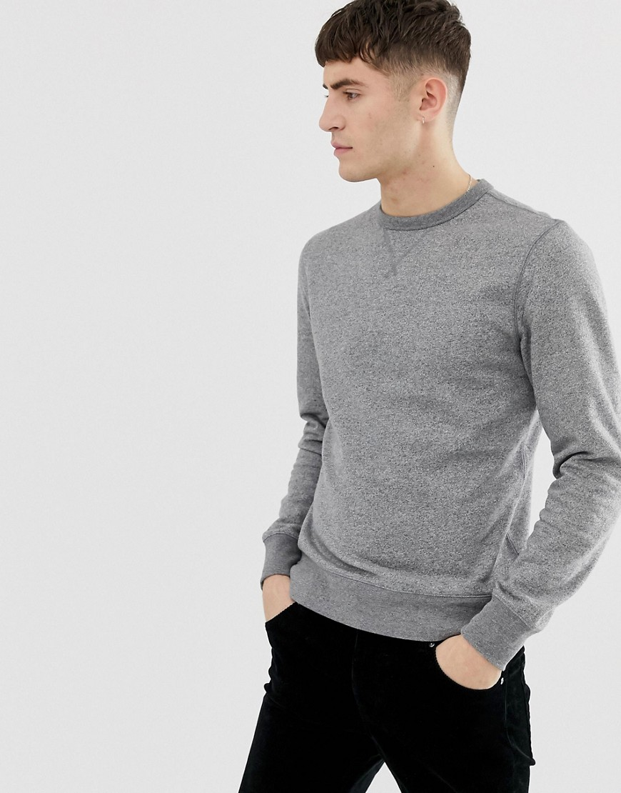 J.Crew Mercantile crewneck sweatshirt in grey marl - Marled graphite