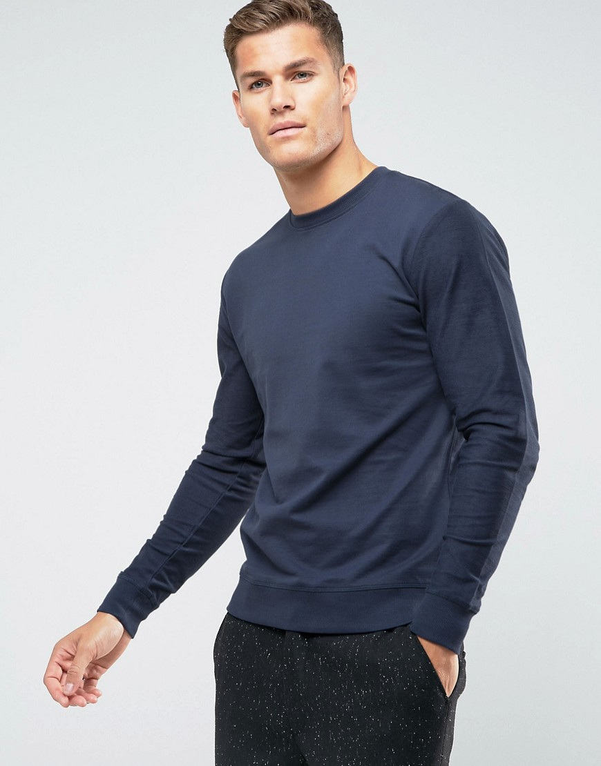 Troy Crew Neck Sweatshirt - Navy