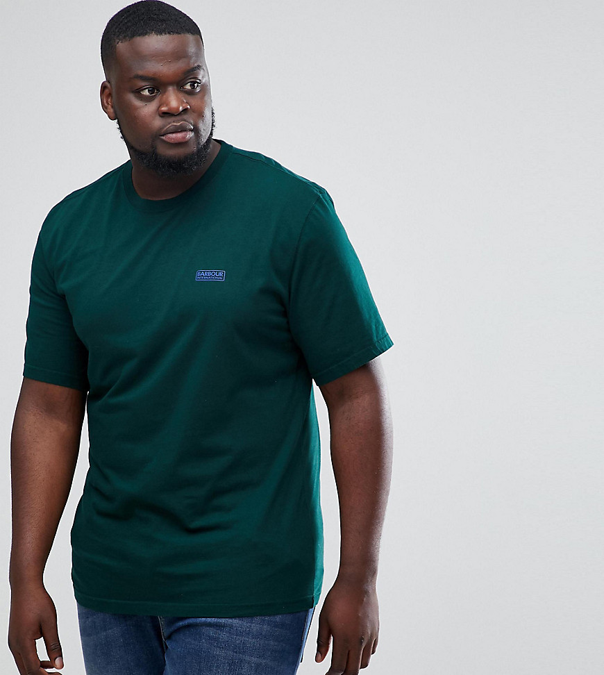 Barbour International PLUS Logo T-Shirt in Green - Green