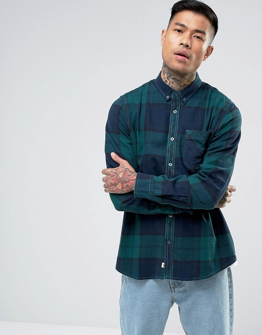 Element Buffalo Flannel Shirt in Green Check - Green