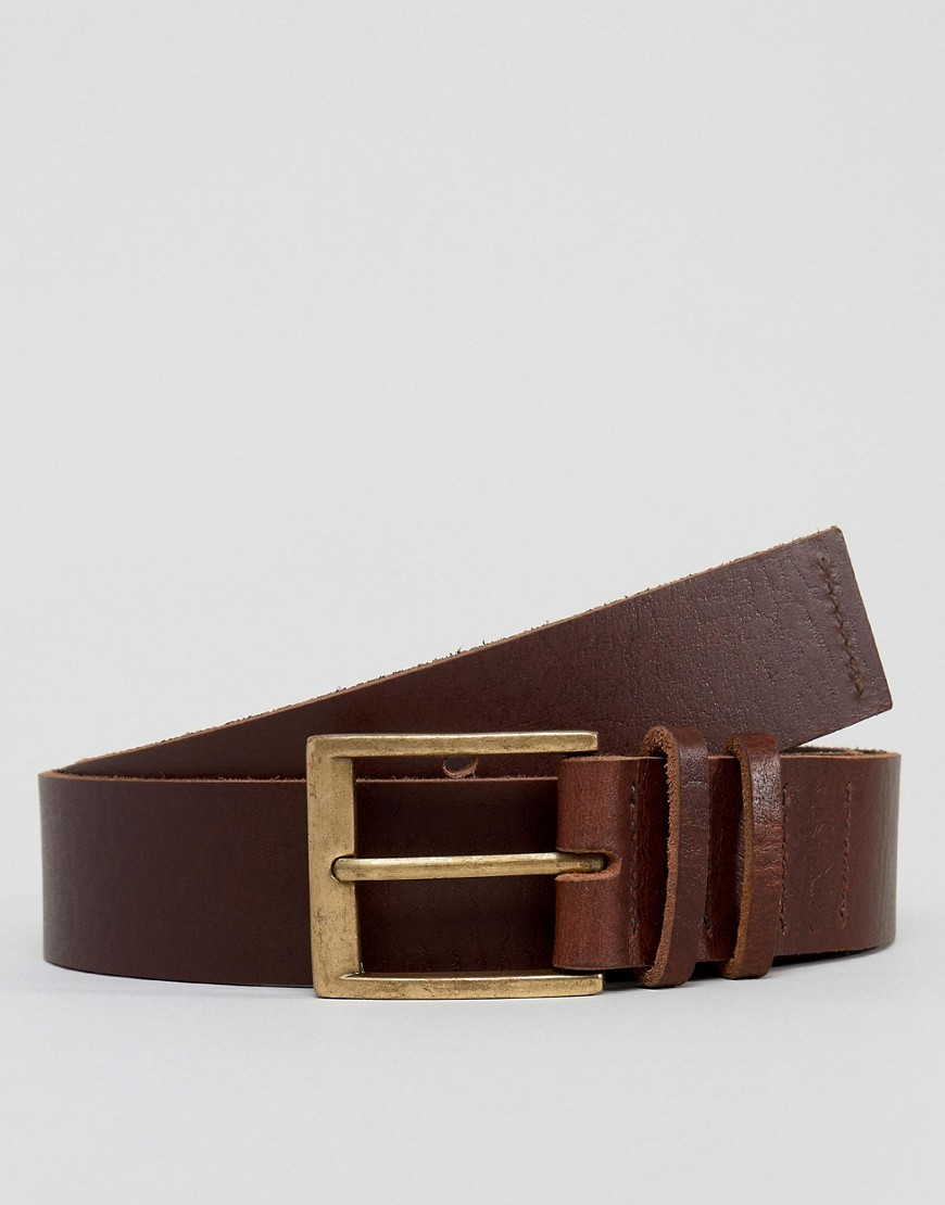Dead Vintage Leather Jean Belt in Brown - Brown