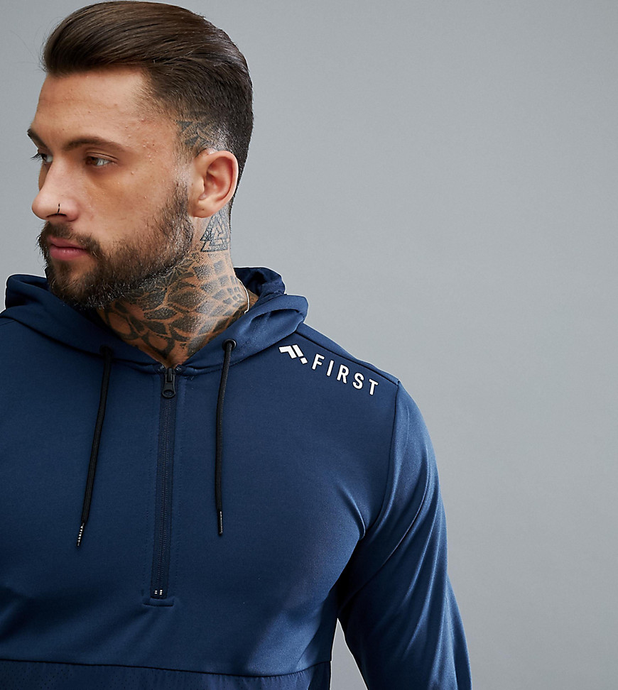 FIRST Training Half Zip Hoodie In Blue - Dress blues