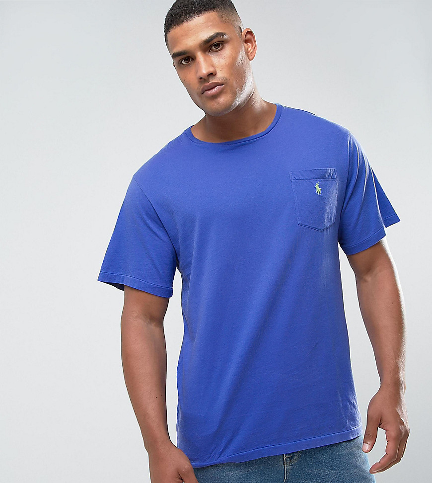 Polo Ralph Lauren Big & Tall Logo Pocket T-Shirt in Liberty Blue - Liberty