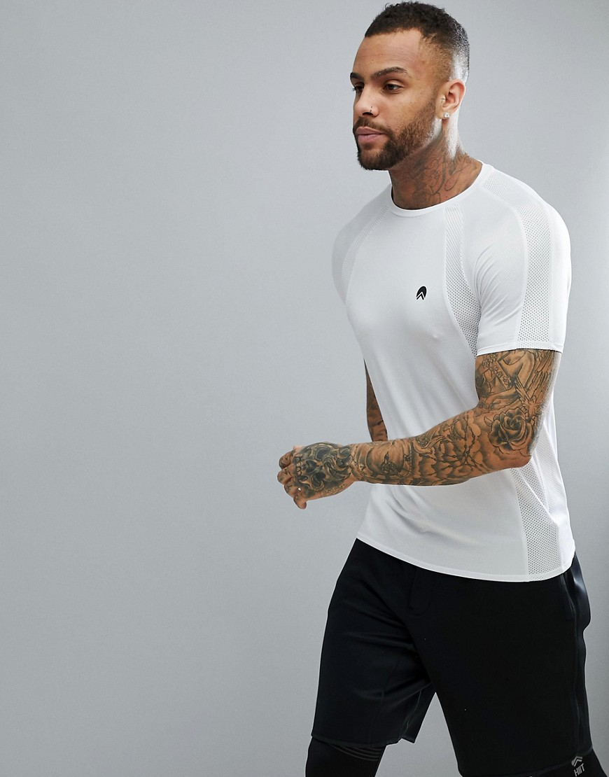 HIIT T-Shirt With Mesh In White - White