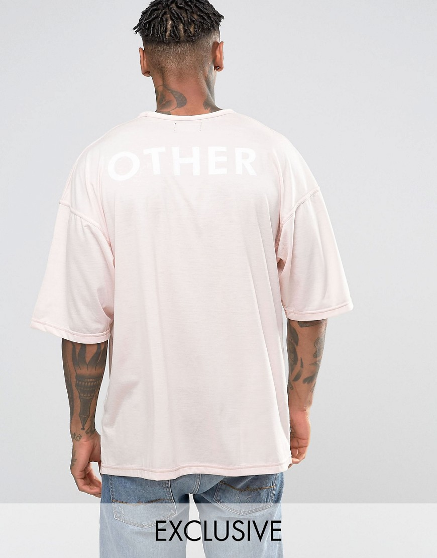 Other UK Oversized T-Shirt With Back Print - Pink
