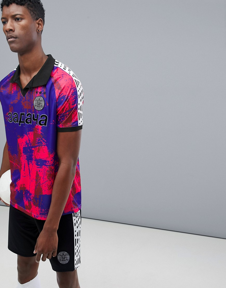 ASOS 4505 Football T-Shirt With All Over Print - Pink