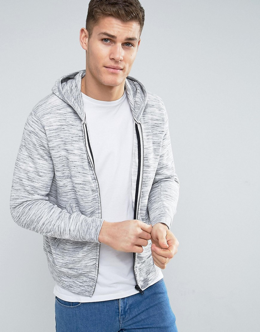 Mango Man Hoodie With Front Pocket In Grey - Grey