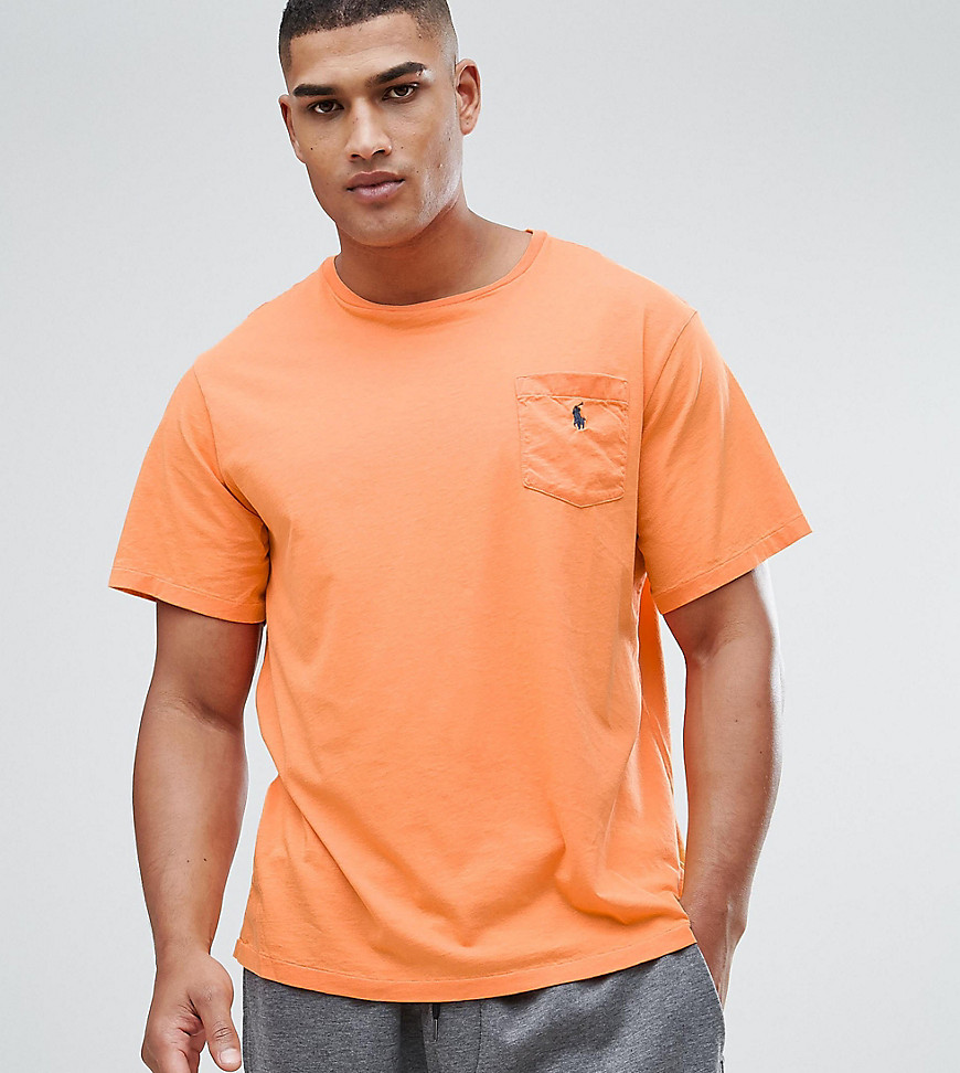 Polo Ralph Lauren Big & Tall Logo Pocket T-Shirt in Orange - May orange