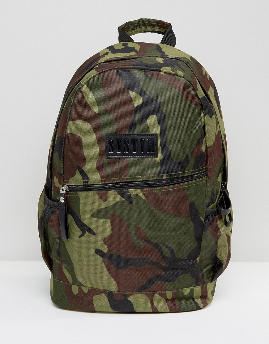 Systvm Backpack In Camo - Green