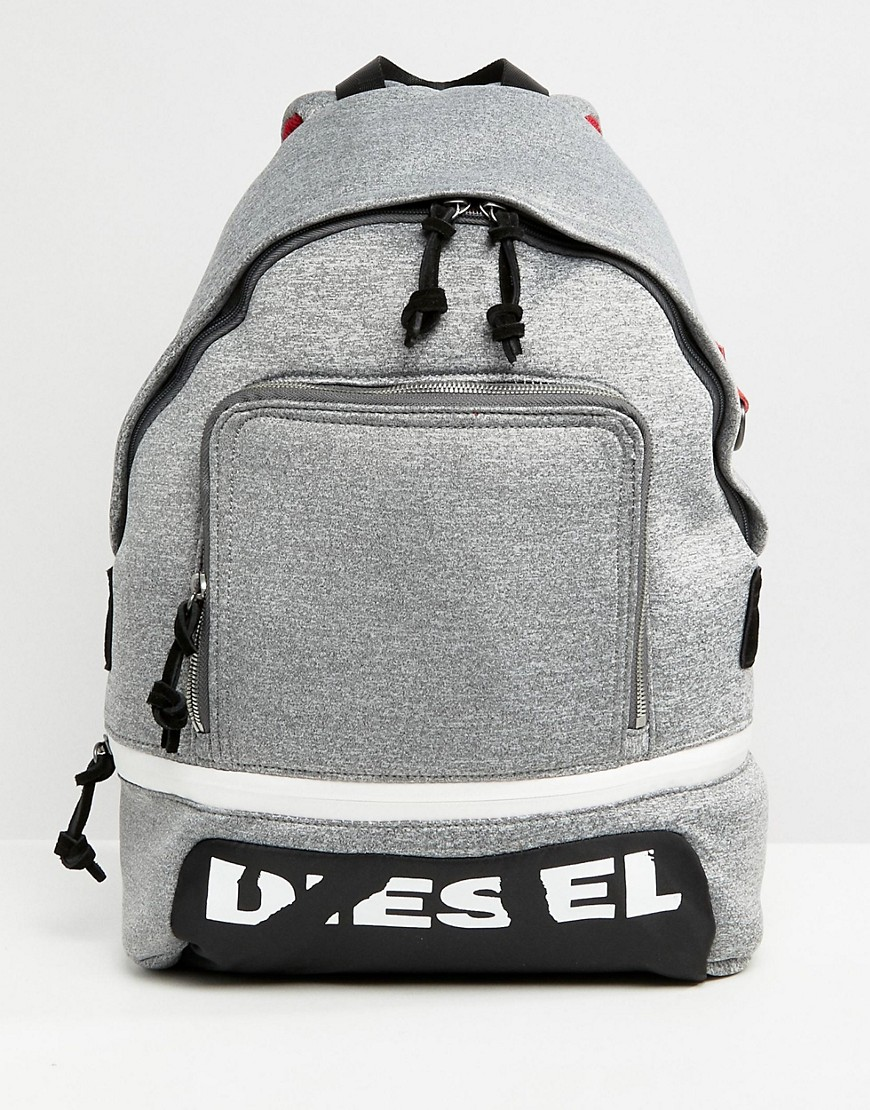 Diesel Broken Logo Scuba Backpack - Grey