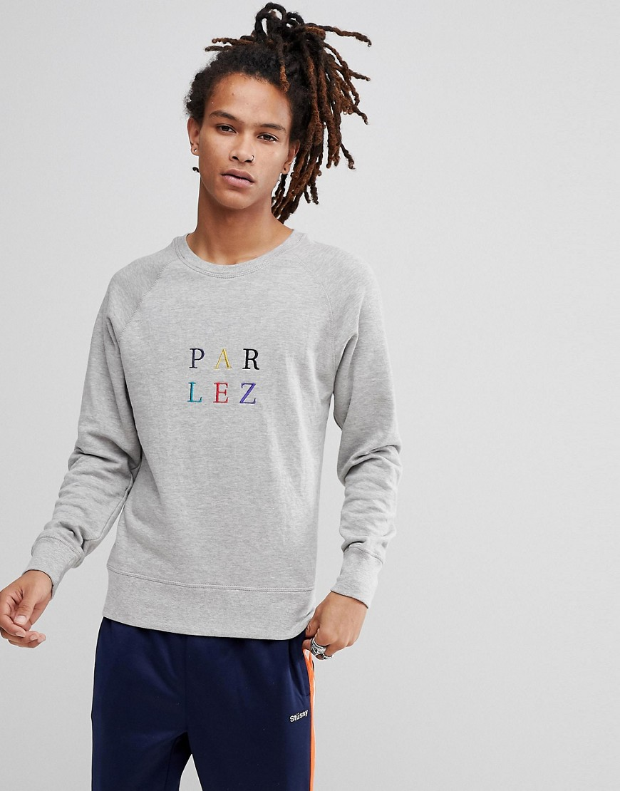 Parlez Sweat With Multi Colour Logo In Grey - Grey