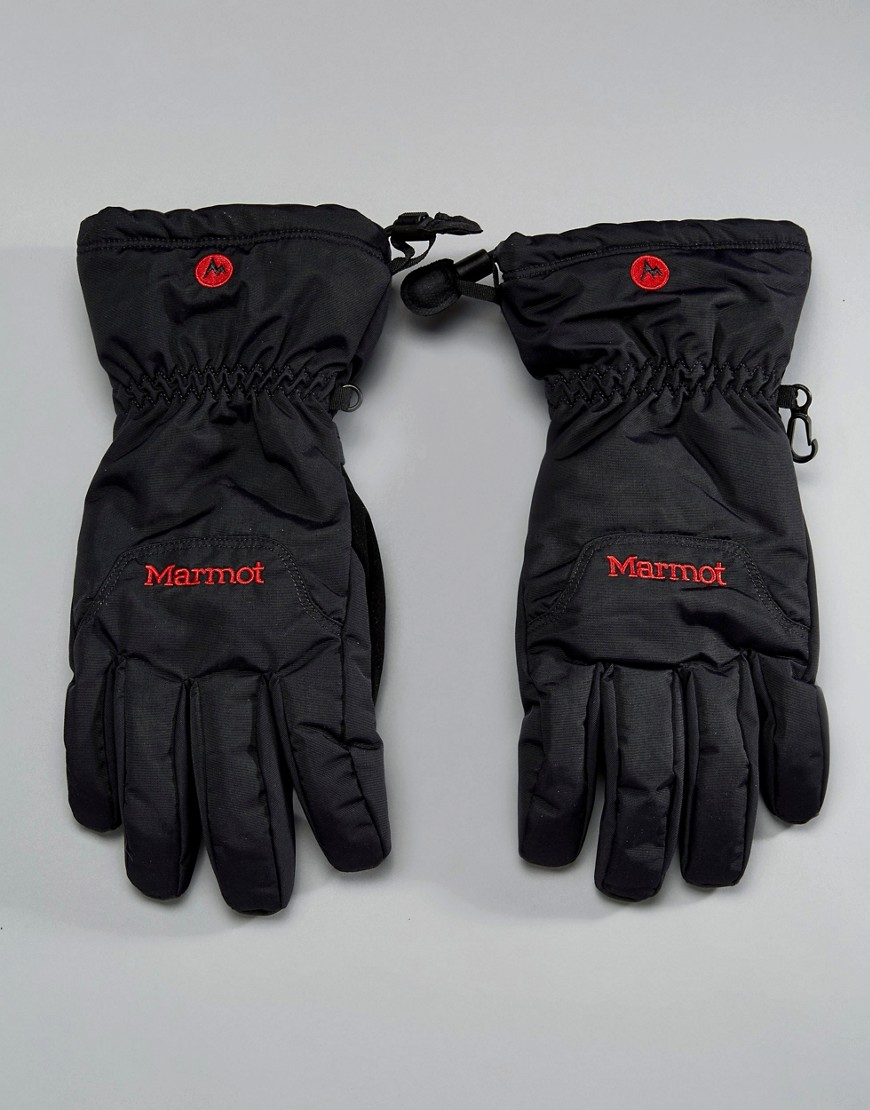 Marmot On Piste Thermal Ski Gloves in Black - Black