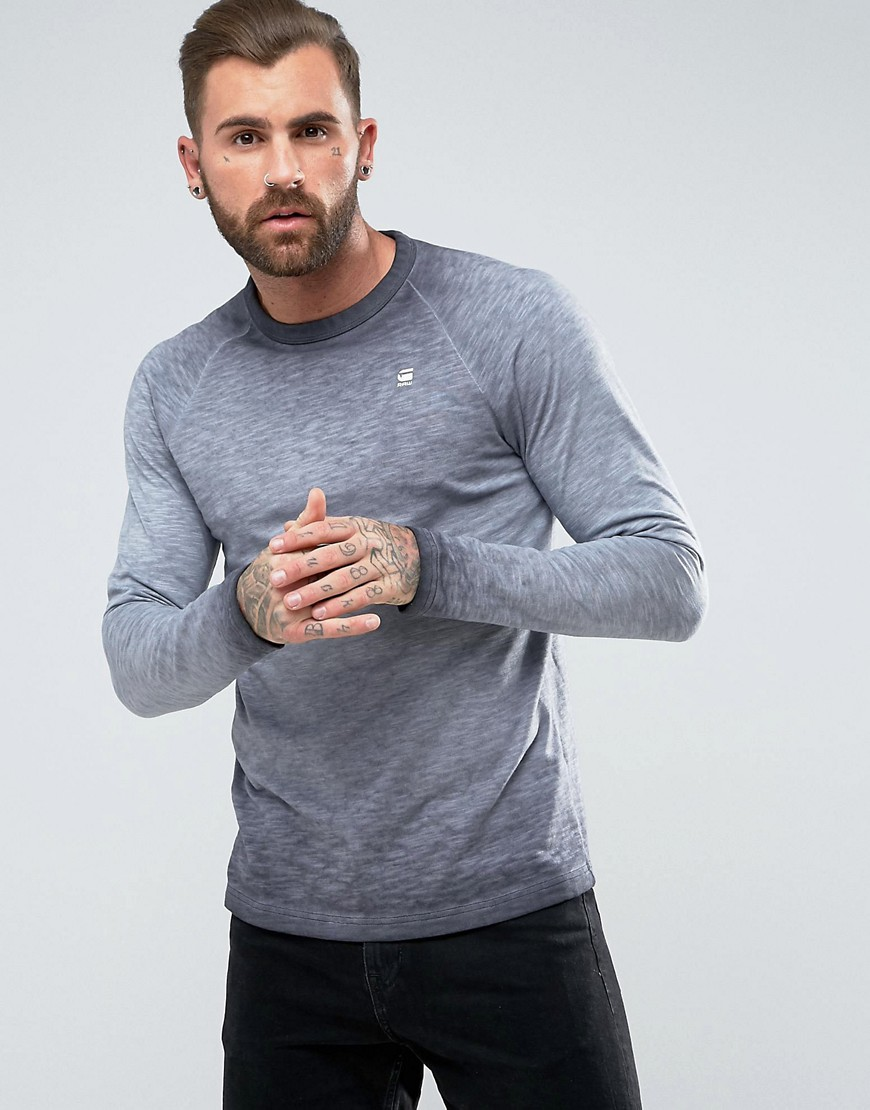 G-Star BERAW Valtorias Raglan Long Sleeve Top - Naval blue