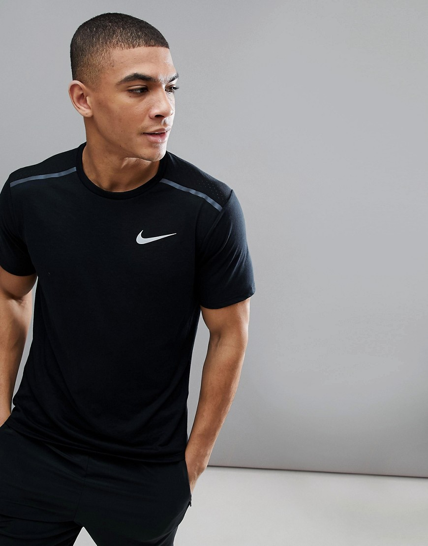 Nike Running Breathe Tailwind T-Shirt In Black 892813-010 - Black