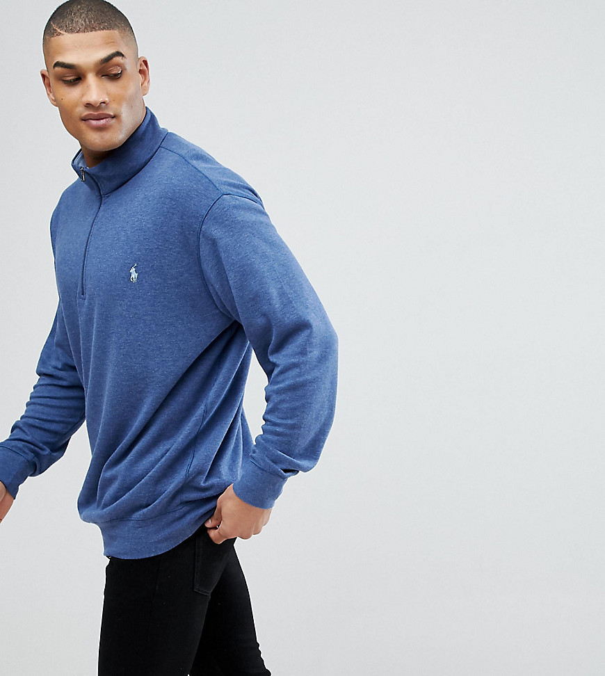 Polo Ralph Lauren Big & Tall Half Zip Sweatshirt in Navy - Navy