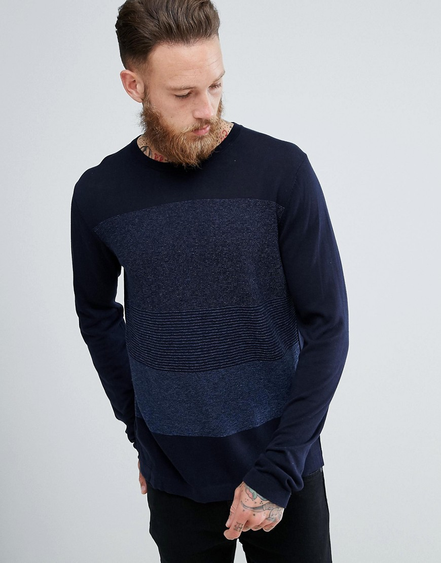 Mango Man Gradient Jumper In Navy - Navy