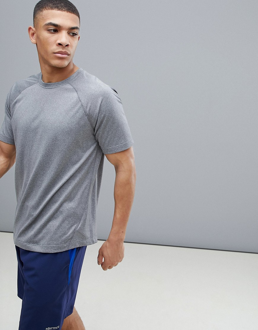 Marmot Active Accelerate SS Running Raglan T-Shirt in Grey - Grey storm heather